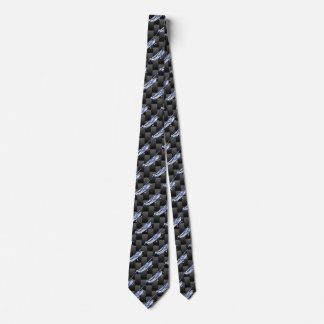 Aircraft Classic Chrome Cessna Flying Carbon Fiber Tie