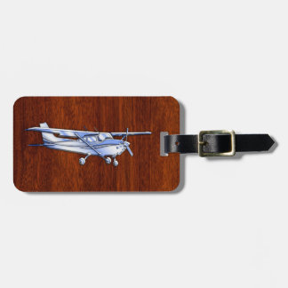Aircraft Classic Chrome Cessna Flying Mahogany Luggage Tag