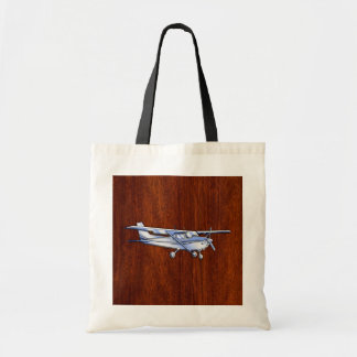 Aircraft Classic Chrome Cessna Flying Mahogany Tote Bag