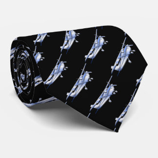 Aircraft Classic Chrome Cessna Silhouette Flying Tie