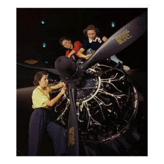 Aircraft Engine Installation 1942 Poster