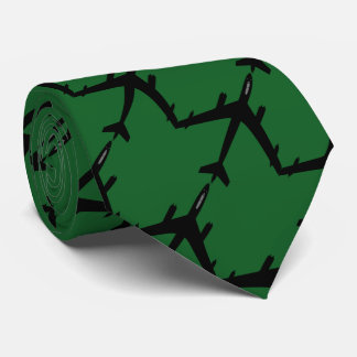 Aircraft flight green tie
