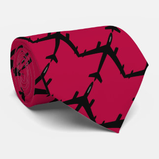 Aircraft flight rose red tie