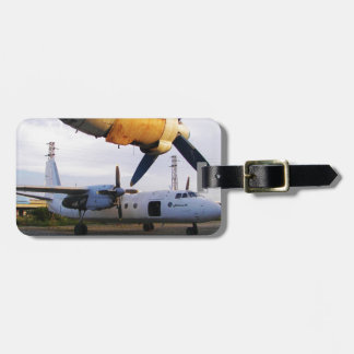 Aircraft graveyard in the east. luggage tag
