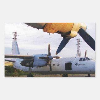 Aircraft graveyard in the east. rectangular sticker