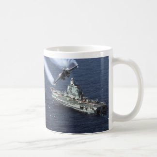 AIRCRAFT IN FOR THE BREAK CLASSIC WHITE COFFEE MUG