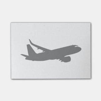 Aircraft Jet Liner Silhouette Flying Decor Post-it Notes