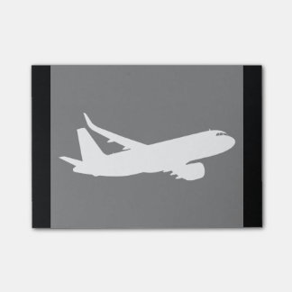 Aircraft Jet Liner White Silhouette Flying Decor Post-it Notes