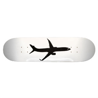 Aircraft Jetliner Black Flight Customize Color 19.7 Cm Skateboard Deck