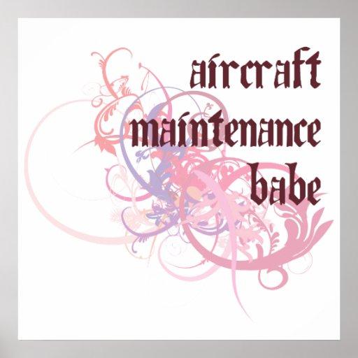 Aircraft Maintenance Babe Poster