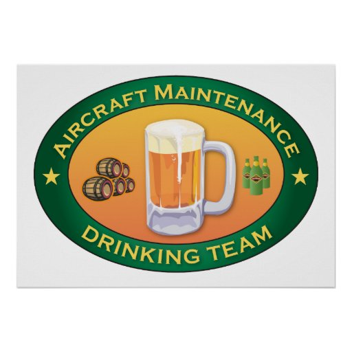 Aircraft Maintenance Drinking Team Print