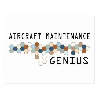 Aircraft Maintenance Genius Postcard