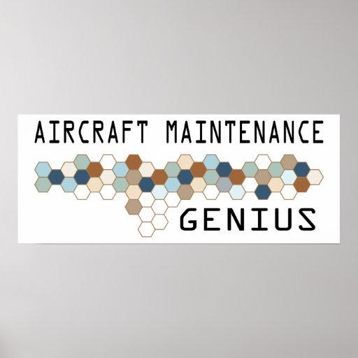 Aircraft Maintenance Genius Poster