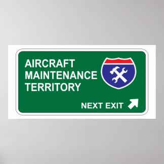Aircraft Maintenance Next Exit Poster
