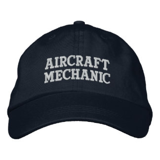 Aircraft Mechanic Embroidered Hats