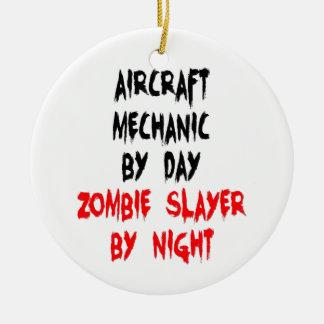 Aircraft Mechanic Zombie Slayer Christmas Ornament