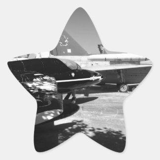 Aircraft museum Garden display Star Sticker