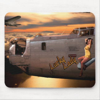 Aircraft Nose Art Mouse Pad