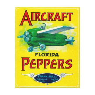 Aircraft Pepper Label Canvas Print