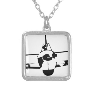 Aircraft Silver Plated Necklace