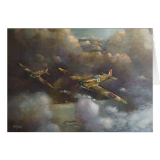 Aircraft - Spitfire Greetings Card