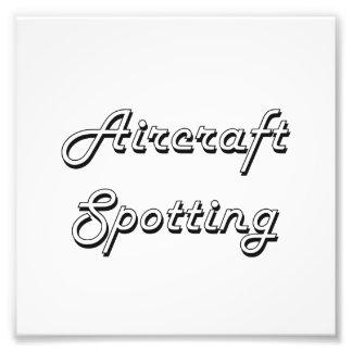 Aircraft Spotting Classic Retro Design Art Photo