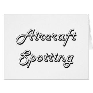 Aircraft Spotting Classic Retro Design Big Greeting Card