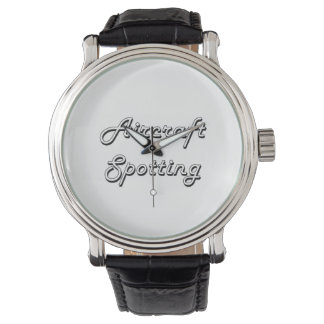 Aircraft Spotting Classic Retro Design Wristwatches