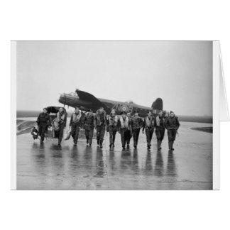 Aircrew 106 Lancaster Bomber RAF Greeting Card