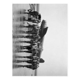 Aircrew 106 Lancaster Bomber RAF Postcard