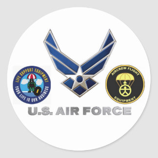 Aircrew Life Support and Aircrew Flight Equipment Classic Round Sticker