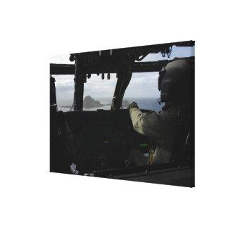 Aircrews approach Farallon Island Gallery Wrapped Canvas