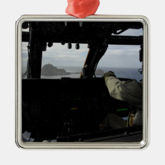 Aircrews approach Farallon Island Christmas Ornament