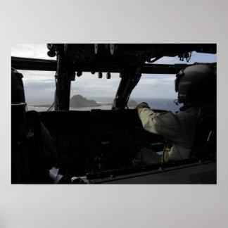 Aircrews approach Farallon Island Poster
