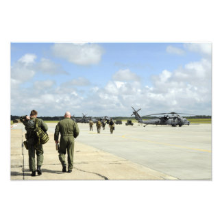 Aircrews prepare to depart photo print
