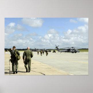 Aircrews prepare to depart poster
