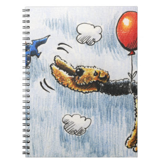 Aire-Balloon Airedale Terrier Spiral Notebooks
