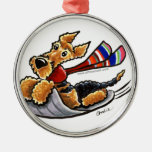 Aire-Sledding Airedale Terrier