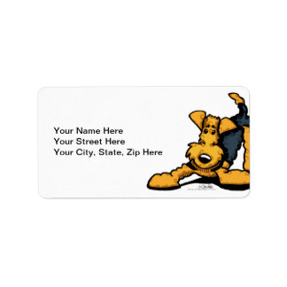 Airedale at Play Address Label