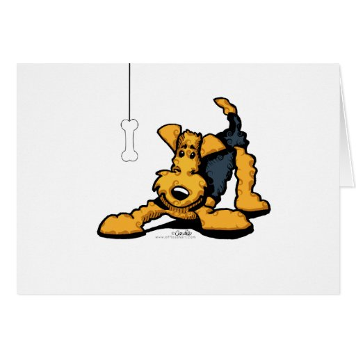 Airedale at Play Cards