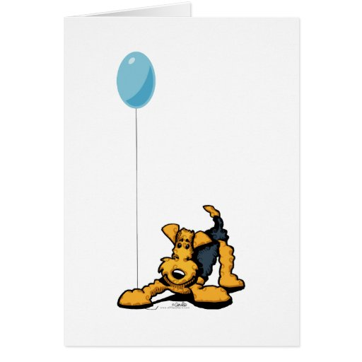 Airedale at Play Greeting Card