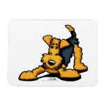 Airedale at Play Magnet