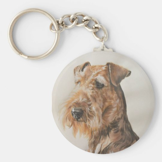 Airedale Basic Round Button Key Ring