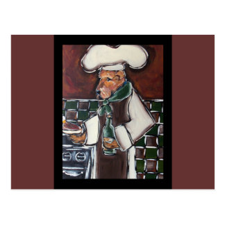 Airedale Chef Postcard