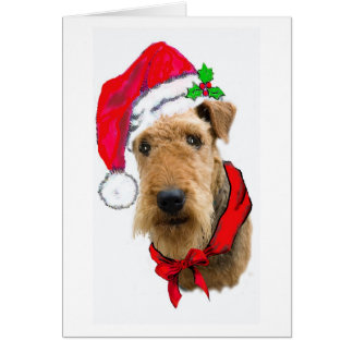 AIREDALE CHRISTMAS CARD