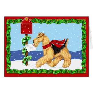 Airedale Christmas Dale Mail Greeting Card
