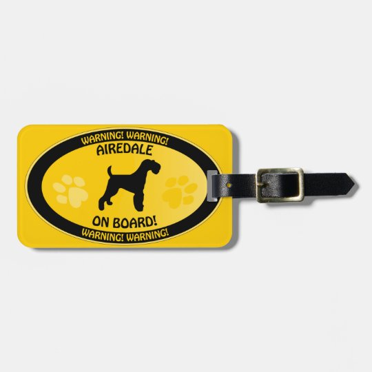 Airedale Crossing [Xing] Bag Tag