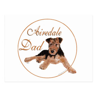 Airedale Dad Post Cards