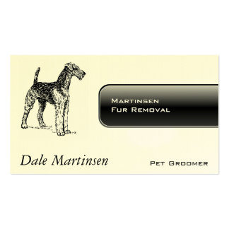Airedale Dog Double-Sided Standard Business Cards (Pack Of 100)