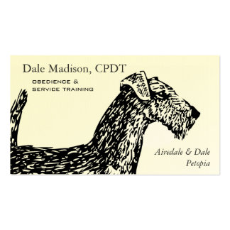 Airedale Dog Business Pack Of Standard Business Cards